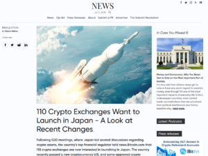 Bitcoin News: 110 Crypto Exchanges Want to Launch in Japan - A Look at Recent Changes