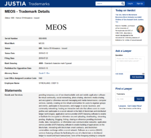 MEOS Trademark Details