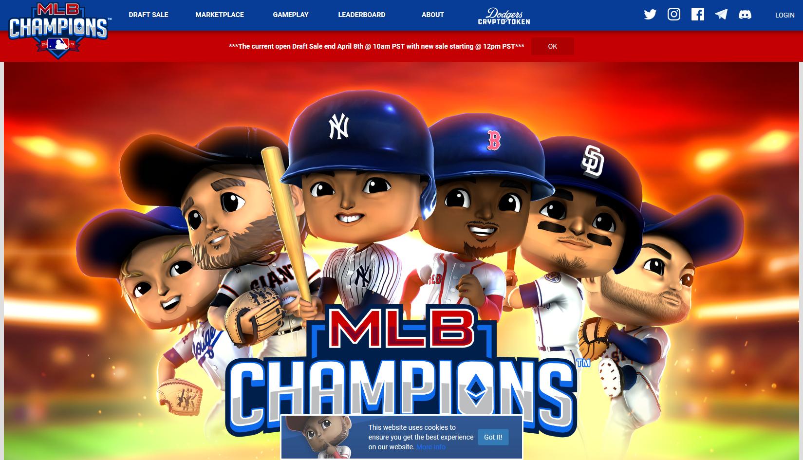 MLB CHAMPIONS公式ページ