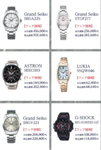 対象の高級腕時計の一例
