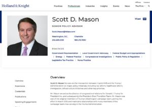 Scott Mason氏(Holland&Knightにある氏のプロフィールページ)