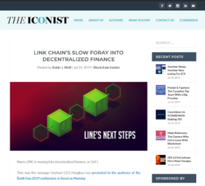 THE ICONIST:LINK Chain's Slow Foray Into Decentralized Finance