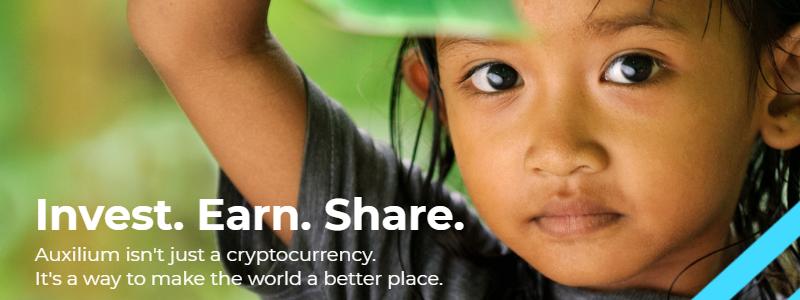 世界の病気に取り組むことを目標とした慈善的なプロジェクト「Auxilium」の仮想通貨エアドロップ(AirDrop)参加方法