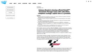 Animoca Brands:Animoca Brands to develop official MotoGP™ blockchain Manager Game with collectibles, completes strategic capital raise at a premium