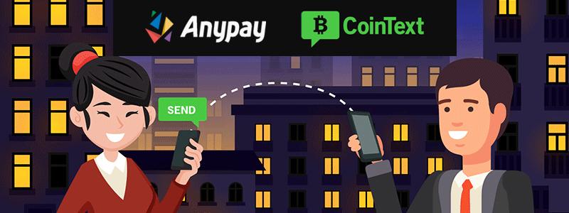 AnypayグローバルがSMS送金のCoinTextと提携し送金からスムーズな現金化が実現