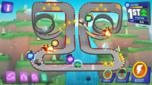Decentralandの仮想空間上でプレイできるレースゲーム「Battle Racers 」(Decentraland公式Blogより)