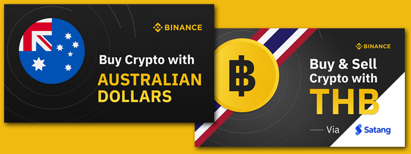 仮想通貨取引所バイナンスがポーランド、スウェーデン、タイ、オーストラリアと次々と法定通貨の取り扱いを開始