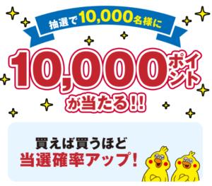 10,000ポイントプレゼントキャンペーン