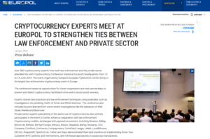 Europol:Cryptocurrency experts meet at Europol to strengthen ties between law enforcement and private sector