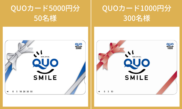 特典のQUOカード(イメージ)