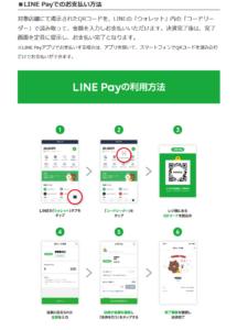 LINE Payでの支払い方法(「【成城石井】LINE Pay限定!コード支払いで最大20%プレゼントキャンペーン」より)