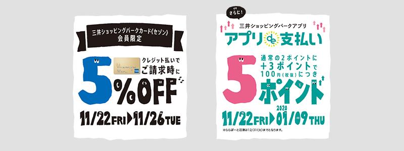 三井ショッピングパーク、クレジットカードやパークアプリでの支払いがお得