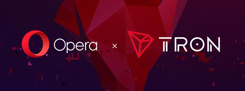 Operaは、Crypto WalletにTRON(トロン)を追加すると発表