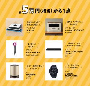 5万円(相当)の賞品