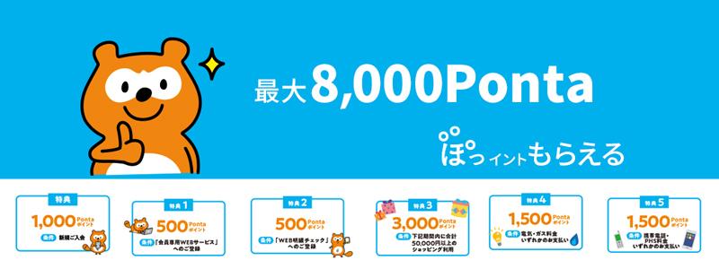 ローソン銀行 「ローソンPontaプラス」新規入会&利用で最大8000円相当のポイント還元を実施中