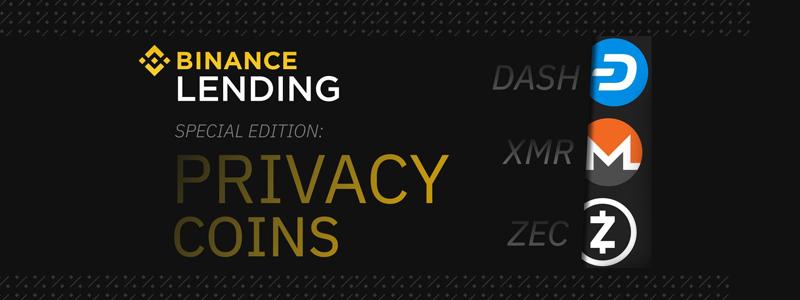 ZcashやDASHなど匿名通貨がレンディングサービスに登場|バイナンスレンディング