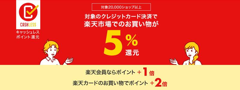 楽天の2万ショップ以上が5%ポイント還元対象|キャッシュレス・消費者還元事業の特設ページ開設