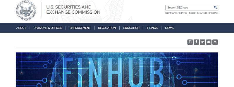 米国証券取引委員会(SEC)がフィンテックの戦略的ハブとして情報公開と交流の場「FinHub」を公開