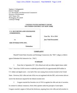 SECの訴状
