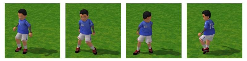 サッカーするミトミツさん