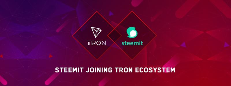 TRON(トロン)がソーシャルメディアSteemitと提携|STEEMトークンはTRONベースに移行