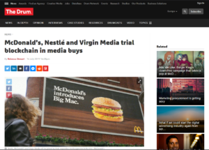 The Drum:McDonald's, Nestle and Virgin Media trial blockchain in media buys