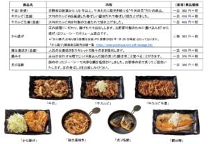 W定食で追加できる6品